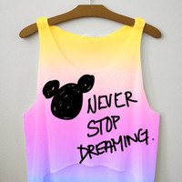 Never Stop Dreaming Crop Top | fresh-tops.com