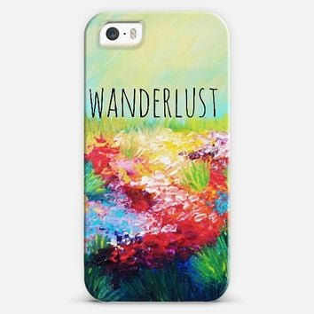 WANDERLUST - Floral Field Wildflowers Summer Colorful Abstract Nature Rainbow Whimsical Explore Adventure Outdoors Hipster Happy Flowers Painting iPhone 5s case by Ebi Emporium | Casetify