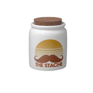 The Stache Retro Design Candy Jars from Zazzle.com