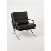 Pietro Modern Style Leather Lounge Chair, Modern Occasional Chair, Leather Lounge Chair: Nyfurnitureoutlets.com