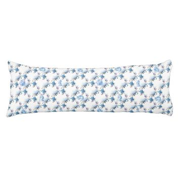 Alice in Wonderland Blue Floral Body Pillow