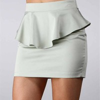 Sale-Mint Peplum Skirt