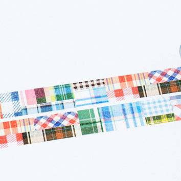 Patchwork - Japanese mt ex Washi Masking Tape, Scrapbooking, Collage, Gift Wrapping, MTEX1P63