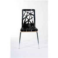 Sarah Contemporary Dining Chairs Tiger (Set Of 2), Dining Room Furniture, Modern Dining Chairs: Nyfurnitureoutlets.com