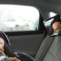 ☆ Baby Back Seat Mirror ☆ Shatterproof & Cadmium Free - No Center Headrest Required - Extra Large Rear Seat Car Mirror for Baby - 360-degree Adjustable Mirror Rotates and Pivots for that Perfect Viewing Angle - Larger than other brands and provides full si