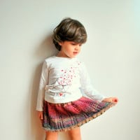Wool skirt/ handknitted/ little girl/ colorful/ big wool/ winter clothing