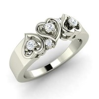 Diamond Ring in 14k White Gold | 0.15 ct. tw. | Round Cut | Adina | Diamondere