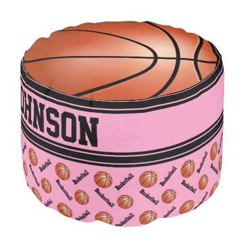 Basketball Pink Sport Pattern