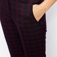 New Look Check Print Slim Leg Trouser