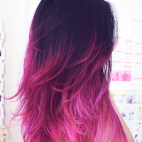 Pink OMBRE HAIR extensions