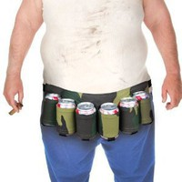 Big Mouth Toys Beer Belt / 6 Pack Holster(Camo): Amazon.com: Home &amp; Kitchen