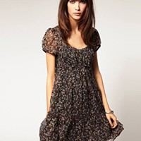 Band of Gypsies | Band Of Gypsies Tiered Gypsy Ditsy Floral Dress at ASOS