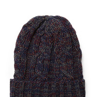 Marled Cable Knit Beanie