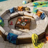 [sold out]   Outdoor Cushy Circle Set