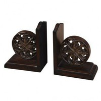 Uttermost Chakra Bookends (Set of 2) in Distressed Chestnut Brown - 19251