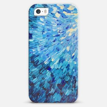 Sea Scales in Indigo - Deep Blue Ocean Waves Splash Abstract Painting iPhone 5s case by Ebi Emporium | Casetify
