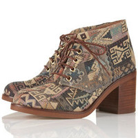 ARTIST Tapestry Heeled Boots - View All  - Shoes