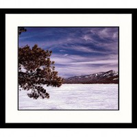 Great American Picture Winter Lake Framed Photograph - LAN26