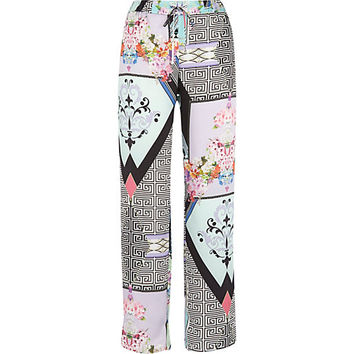 River Island Womens White abstract print slouch pants
