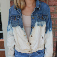 ripped bleached denim jacket