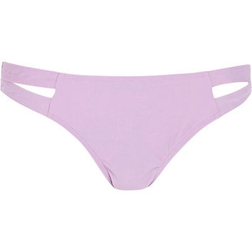 River Island Womens Lilac cut out bikini bottoms