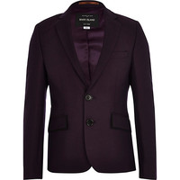River Island Boys purple suit blazer