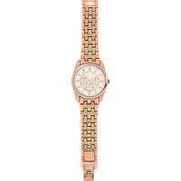 River Island Womens Rose gold tone tri-tone metal bracelet watch