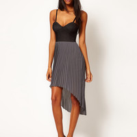 Motel Tegan Contrast Bustier Hi Lo Dress at asos.com