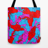 Bed of Hands Tote Bag by Tyler Spangler