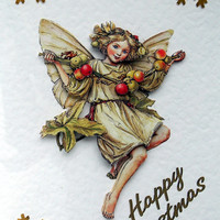 Christmas Card - Happy Christmas Hand-Crafted 3D Decoupage Card - Happy Christmas (1758)