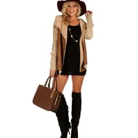 Brown Sherpa And Knit Jacket