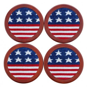 Old Glory Coasters in Red, White, and Blue by Smathers & Branson