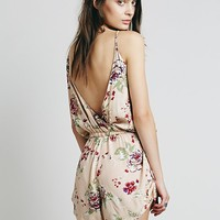 Faithful The Brand Womens Soulmate Playsuit - Sundance Beige Print