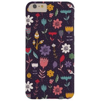 Modern Spring Flower Pattern iPhone 6 Plus Case