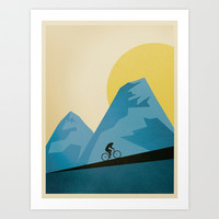 Mountain Trails Art Print by Script & Seal