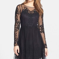 French Connection 'Maddison Gardens' Embroidered Mesh Overlay Dress