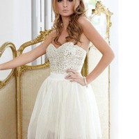 Lipsy V I P Embellished Bust Prom Dress