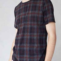 Native Youth Plaid Crewneck Tee - Urban Outfitters