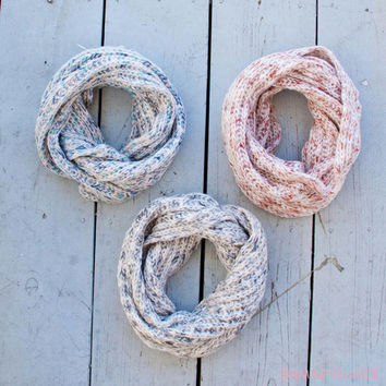 Slippery Slopes Multicolored Infinity Scarf
