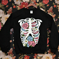 'Floral Rib Cage' Sweater