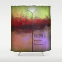 A Light Shower Curtain by Jessielee