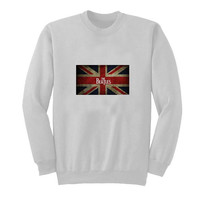 the beatles flag sweater White Sweatshirt Crewneck Men or Women for Unisex Size with variant colour