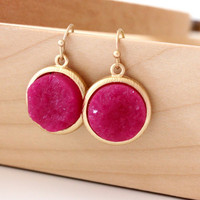 Pink rich color earrings