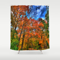 Look Up, Autumn Falls Shower Curtain by 2sweet4words Designs
