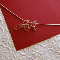 Sterling silver cursive love pendant and 18 inch sterling silver necklace - out of stock