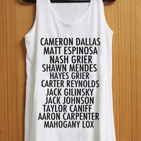 Magcon Player Name tank top for womens and mens heppy feed
