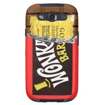 Wonka Bar Golden Ticket Samsung Galaxy S3 Case