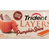 Trident Layers Pumpkin Spice Limited Edition Sugar Free Gum, 12 Packs (14 piece pkgs.)