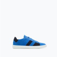 Colored leather trainers