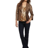 Amazon.com: Jones New York Women's Snap Close Asymmetrical Jacket: Clothing